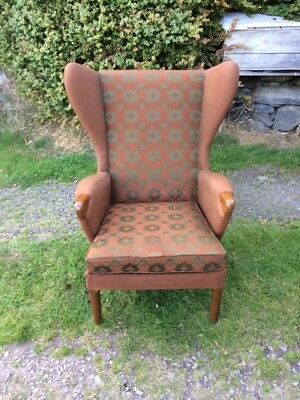 A Vintage 1960's Wing Back Armchair by Parker Knoll