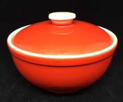 Vintage Mid Century Red Bowl by Universal Cambridge & the Brotherhood of Potters