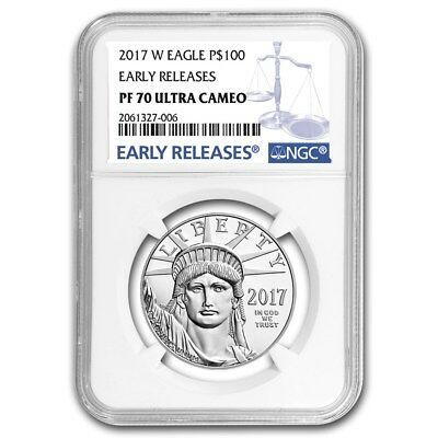 2017-W American Platinum Eagle 20th Anniversary NGC PF70 UCAM ER Proof USA Coin