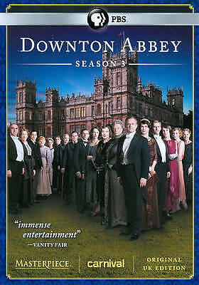 Downton Abbey: Season 3 (DVD, 2013, 3-Disc Set) Factory Sealed Brand New!