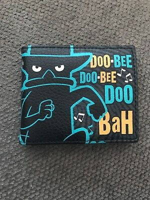 perry the platypus wallet, black leather, new (never used)