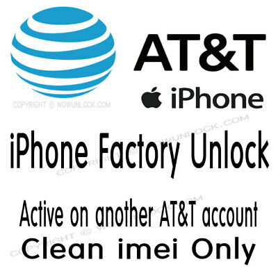 Unlock Service For active another AT&T account iPhone X 8 8+ 7 7+ 6S 6S+ SE 6 6+