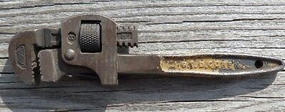 """Antique  G. T. D. Corp 8"""" Steel Pipe Wrench"""