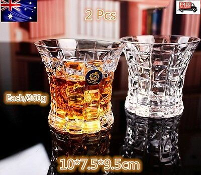 Scotch Whiskey Glasses Wine Glass 2 Piece Tumblers Unique Drink Gift Lead-Free