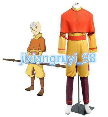 NEW Custom-made Avatar The Last Airbender Aang Cosplay Costume