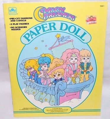 New-1987 Golden Book-Moon Dreamers Paper Dolls-8 Dolls + 46 Fashions & 6 Stars!!