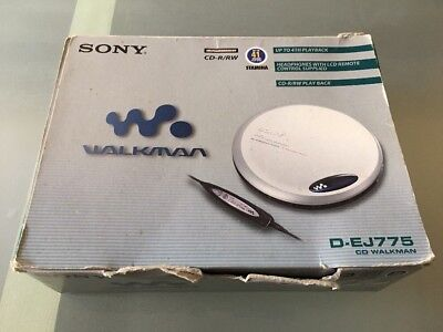 Sony CD Walkman D-EJ775 Silver - Rare