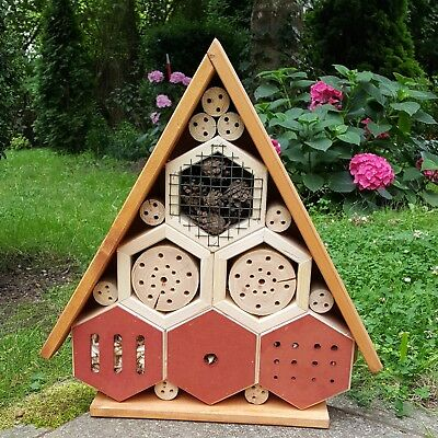 Insect And Bee Keeping Hotel Box Wooden Bug Ladybird Garden Free Standing House