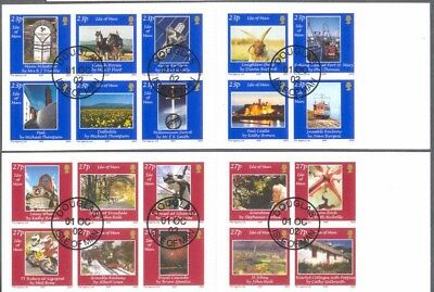 Isle of Man -Photography self adhesive set cto in booklets