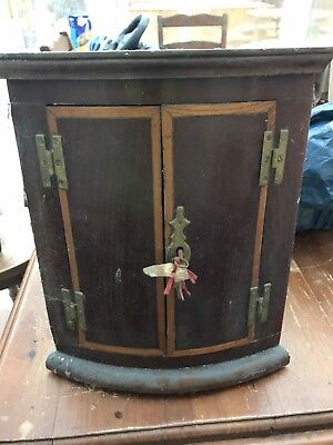 Antique Corner Cupboard , very old , covered in dust and age , needs restoration