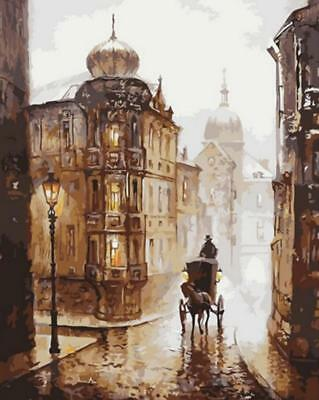 Paint By Number Kit On Canvas Sherlock Holmes Carriage Painting PZ7094