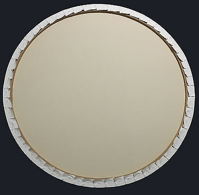 "115cm/45"" blank double primed round circle stretched art canvas 2:1 weave cotton"
