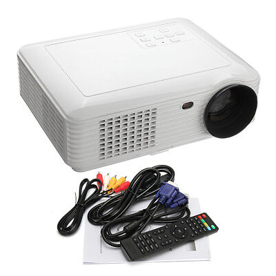 SV-226 HD 3D 3500 Lumens 180W LED LCD Projector Home Theater USB VGA HDMI White