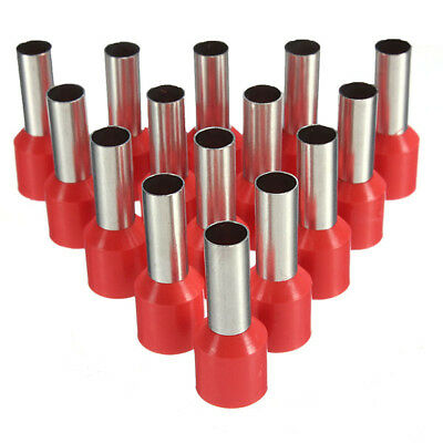 New 100Pcs AWG 18 Red Wire Copper Crimp Insulated Cord Pin End Terminal