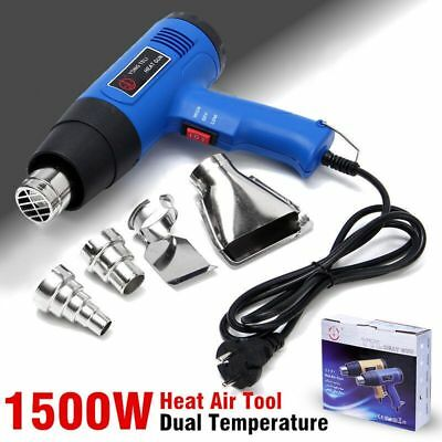 New 1500W 400-800? Dual Temperature Heat Air Gun Power Tool with 4 Nozzles