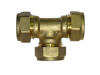 15mm Compression Equal Tee | Brass Plumbing Fitting For Copper Pipe