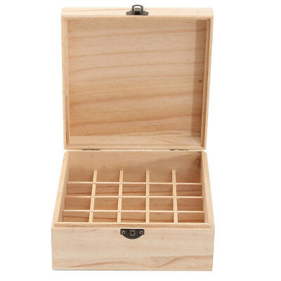 New 25 Grids Wooden Box Bottles Container Storage for Essential Oil Jewelry