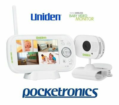 "Uniden BW3101 4.3"" Baby Wireless Video Monitor Night Vision Talk Back Audio Clip"