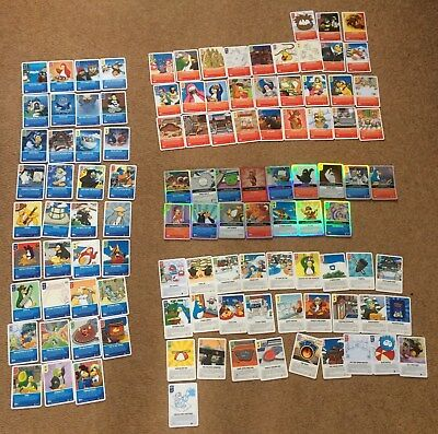 Club Penguin Trading Cards - good condition - 109 cards (16 RARE)