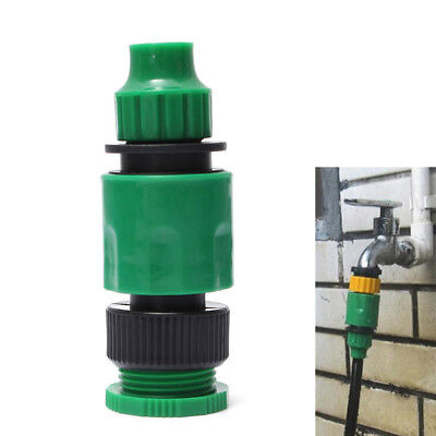 New 1/2 Or 3/4 Inch Garden Micro Hose Quick Joint Tap Connector Fitting