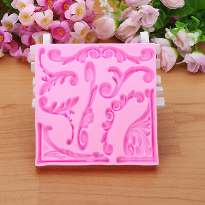 New 3D Leaf Silicone Fondant Lace Mold Cake Decoarting Mould