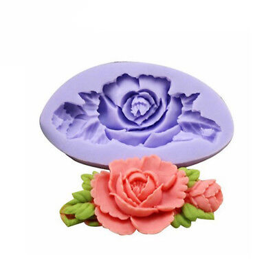 New F0199 Silicone Rose Flower Cake Mould Soap Chocolate Resin Mould Baking Tool