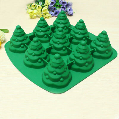 3D Christmas Tree Cake Mould Silicone Cookie Chocolate Baking Mold Kitchen