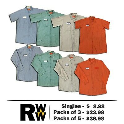 Red Kap Shirts Light Colors Short & Long Sleeve Work Uniform THREE start at $15