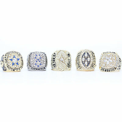 1971, 1977, 1992, 1993,1995 Dallas Cowboys Super Bowl Championship Ring
