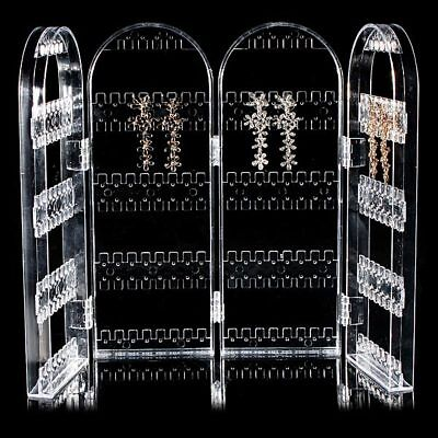 New Acrylic Folded Display Stand Holder Ear Studs Earring Jewelry