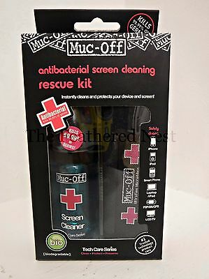 ***Muc-Off  Antibacterial screen cleaner rescue kit + FREE GIFT + FREE P+P ***
