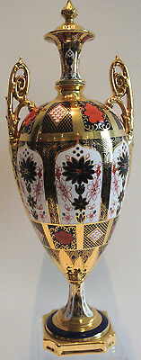 Rare Exceptional Royal Crown Derby 1128 Vase Urn - 17 Inches High