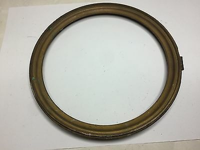 Antique Heavy Brass Bezel Frame Only, NO door, Possibly from a Fusee Clock ?