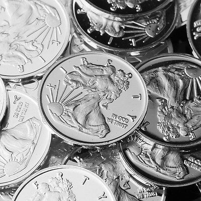 """Walking Liberty"" Design. Lot of 10, 1 gram silver bullion .999 Fine silver COIN"