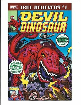 True Believers: Kirby 100Th. - Devil Dinosaur # 1 (Oct 2017), Nm New