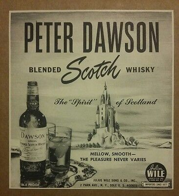 1941 Peter Dawson Blended Scotch Whisky ad