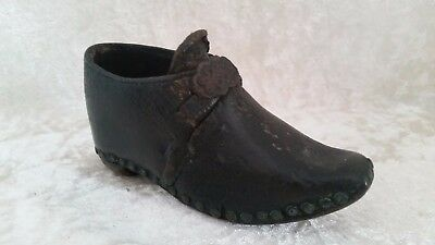Genuine 19th Century Leather Victorian Clothing Handmade Babies Clog RARE