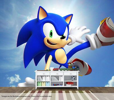 Sonic The Hedgehog 2 Wall Mural Wall Art Quality Pastable Wallpaper Decal