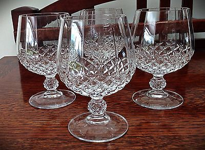 Vintage Beautiful Set of 4 Crystal Brandy Glasses - Height 5""