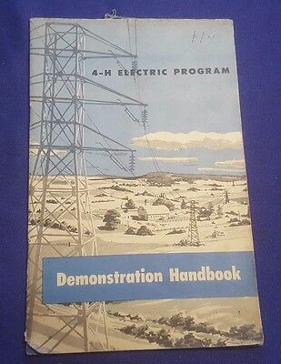 1940's or 50's WESTINGHOUSE 4-H Electric Program Demonstration Handbook