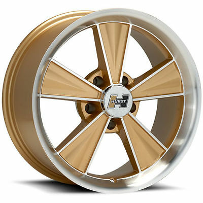 4x Hurst vintage felgen Gold 15x7 5 x 4.75, GM / chevy / Chevrolet hot rod