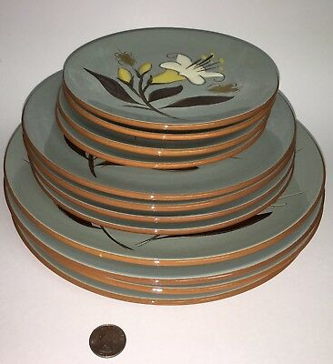 "Stangl Golden Harvest Set 12 Plates 4 10"" d Dinner 4 8"" Salad 4 6"" Bread Butter"