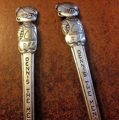 Vintage Dennis the Menace Collector Spoons (Two)