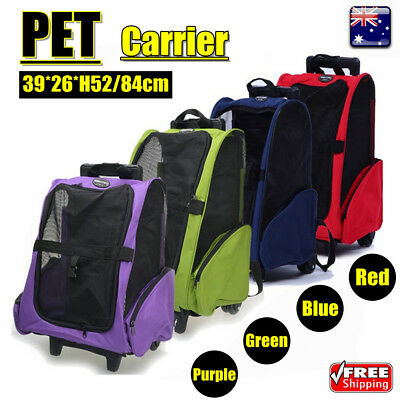 6 Colors Large Dog Pet Trolley Carrier Stroller Travel Backpack Push Wheel Cage