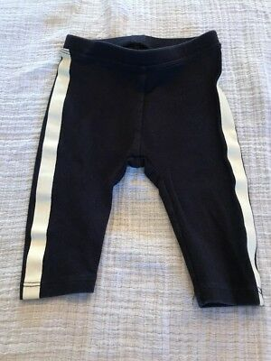 J.Crew/Crewcuts Baby Knit Pants In Black With White Stripe In Size 3-6 Months