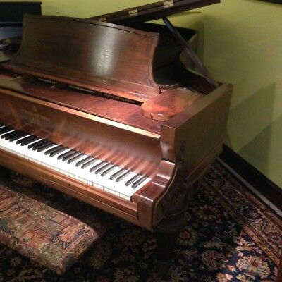 """Steinway & Sons 7'2"""" Grand Piano, artistic rosewood case, plays well"""