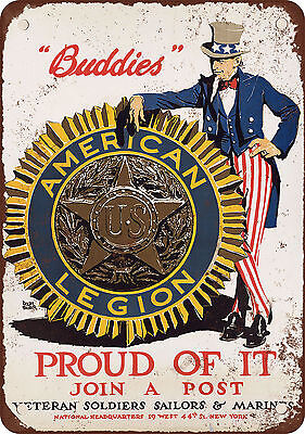 """7"""" x 10"""" Metal Sign - 1914 Join an American Legion Post - Vintage Look Reproduct"""