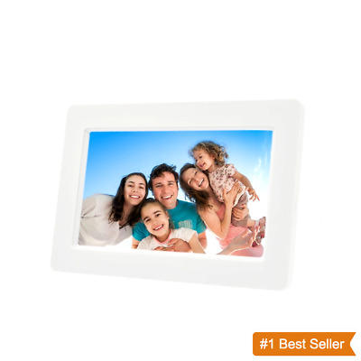 """Electronic Picture Frame 7"""" LCD Hi-Res Digital Photo Frame 32GB Memory SD Card"""