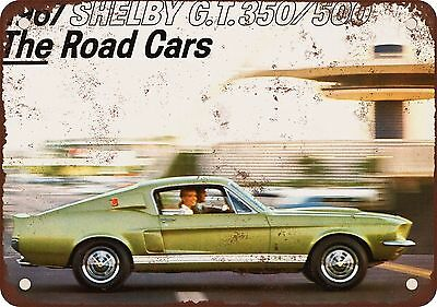 """7"""" x 10"""" Metal Sign - 1967 Shelby GT 350/500 - Vintage Look Reproduction"""