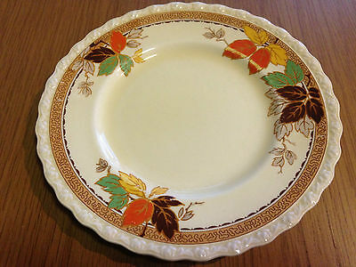 MYOTT STAFFORDSHIRE Leaflet SIDE PLATE Art Deco Autumn Leaves England 1936